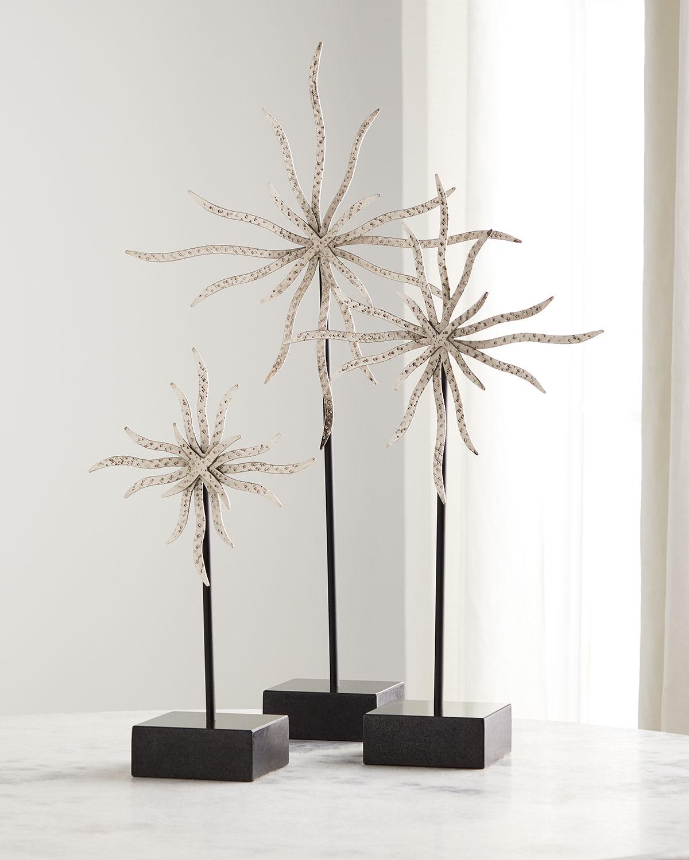 Starburst Sculptures, Set of 3