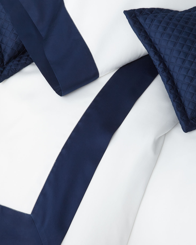Ralph Lauren Home Clothing ORGANIC SATEEN BORDER KING FLAT SHEET