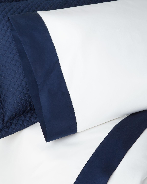 Ralph Lauren Home Pillows ORGANIC SATEEN BORDER STANDARD PILLOWCASE