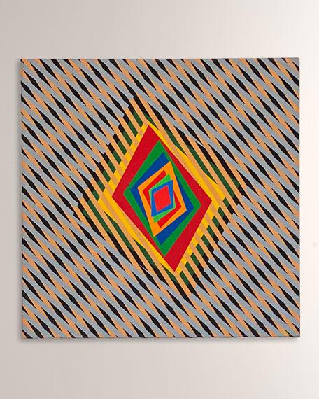 """Ferruccio Gard """"Movimenti Percettivi 7069"""" Acrylic on Canvas"""