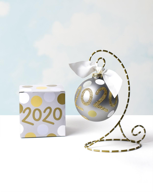 2020 Glass Ornament, Personalized