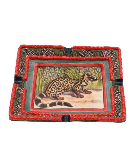 Ardmore Ceramic Art Civet Cat Tray