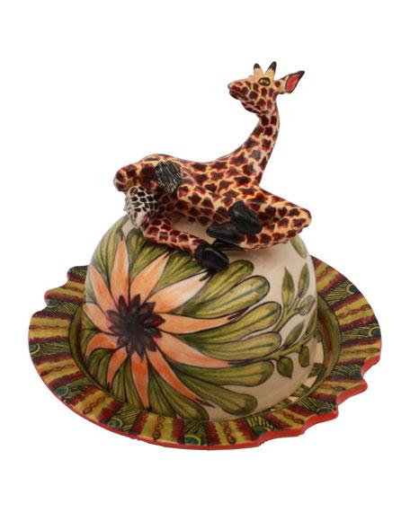 Ardmore Ceramic Art Giraffe Butter Dish