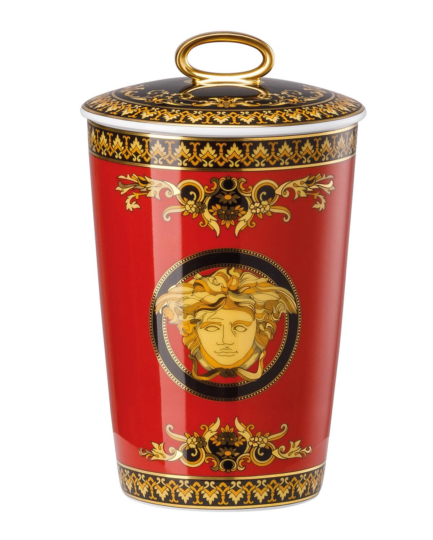 Versace Medusa Red Porcelain Scented Votive