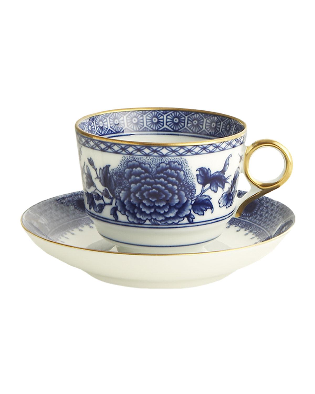 Mottahedeh Drinkwares IMPERIAL BLUE CUP & SAUCER SET