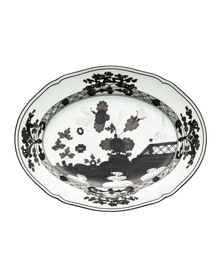 Richard Ginori 1735 Oriente Italiano Oval Platter, Albus