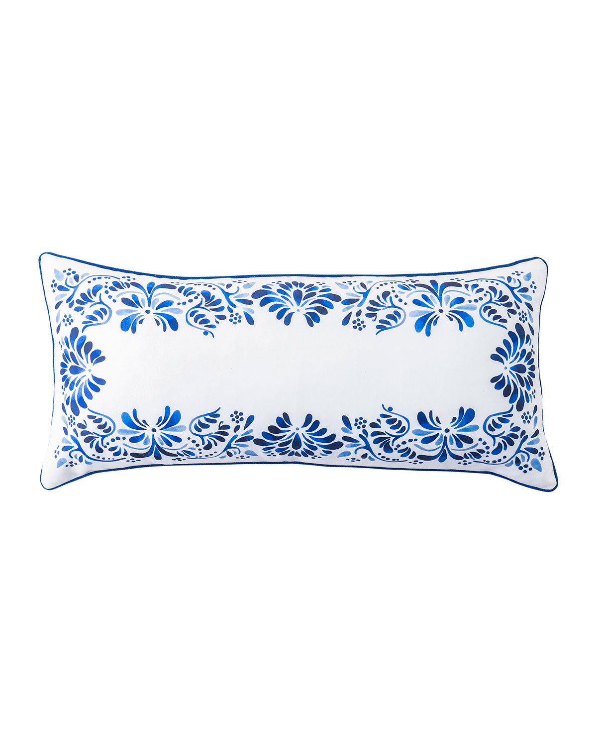"Juliska IBERIAN JOURNEY INDIGO PILLOW, 12""X 27"""