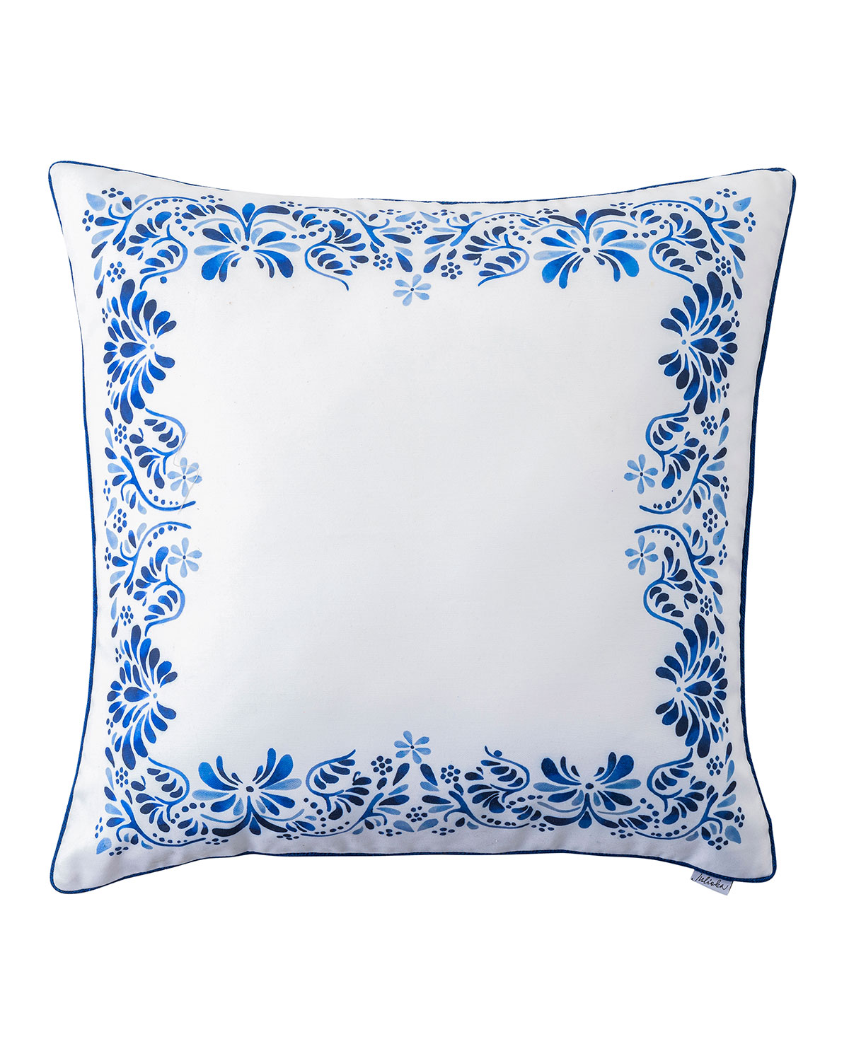 "Juliska IBERIAN JOURNEY INDIGO BORDER PILLOW, 22""SQ"