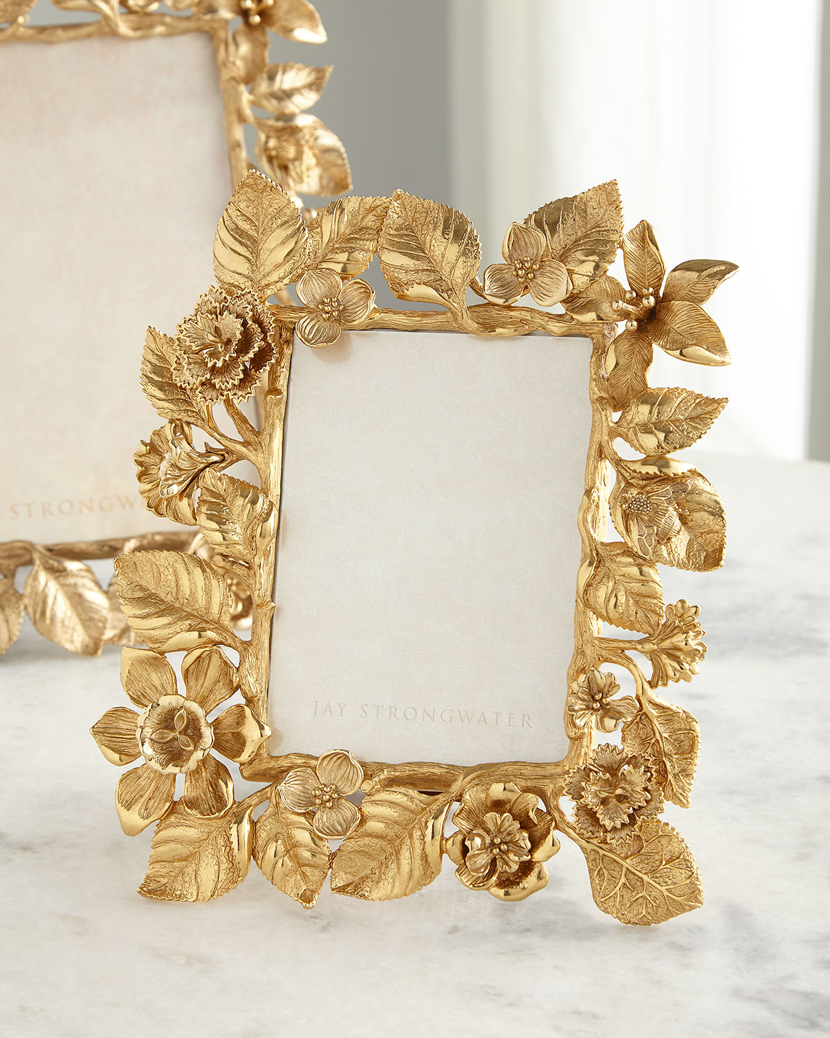 """Jay Strongwater DUTCH FLORAL FRAME COMPOSITION, 5"""" X 7"""""""