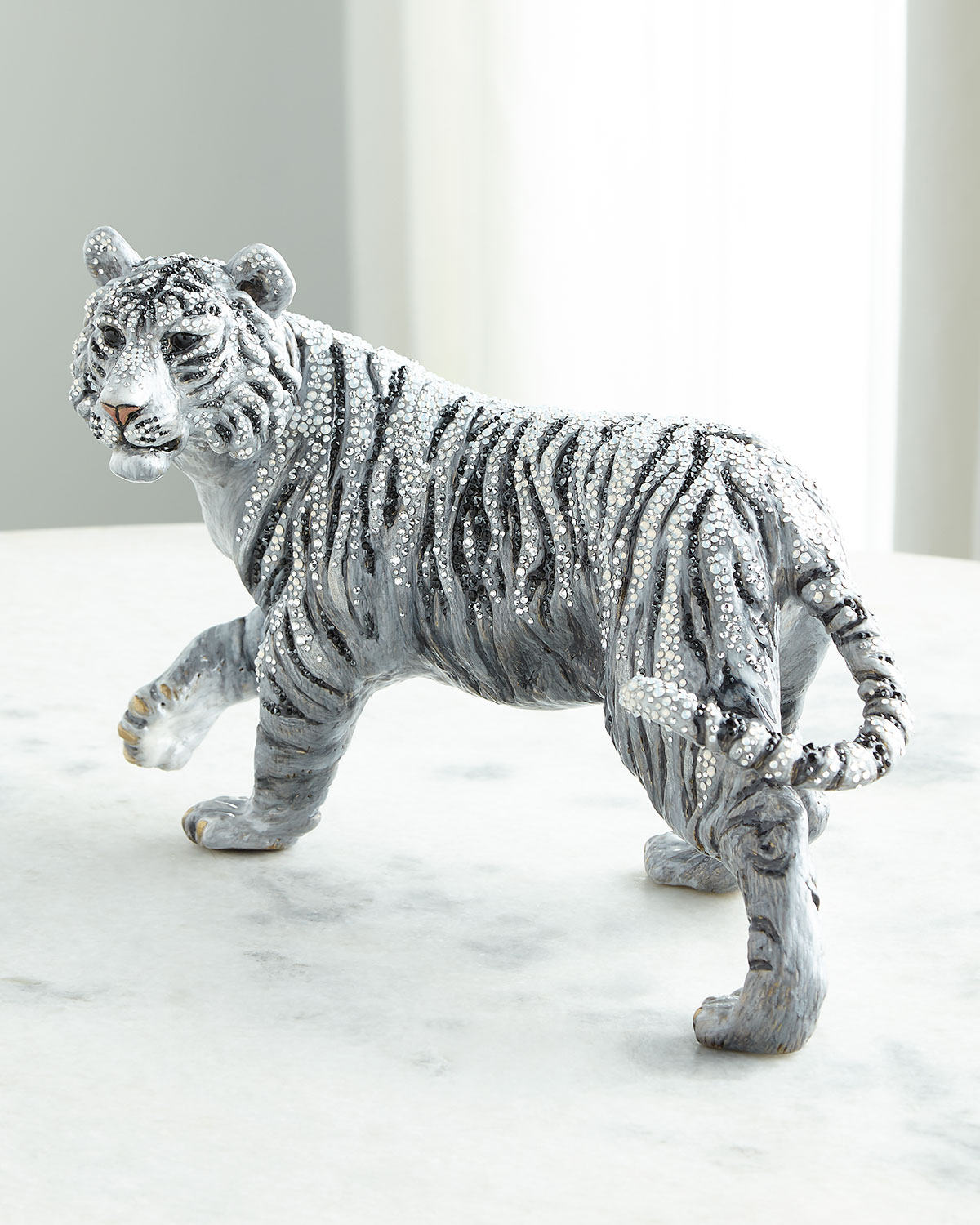 Jay Strongwater ICE GRAND TIGER FIGURINE