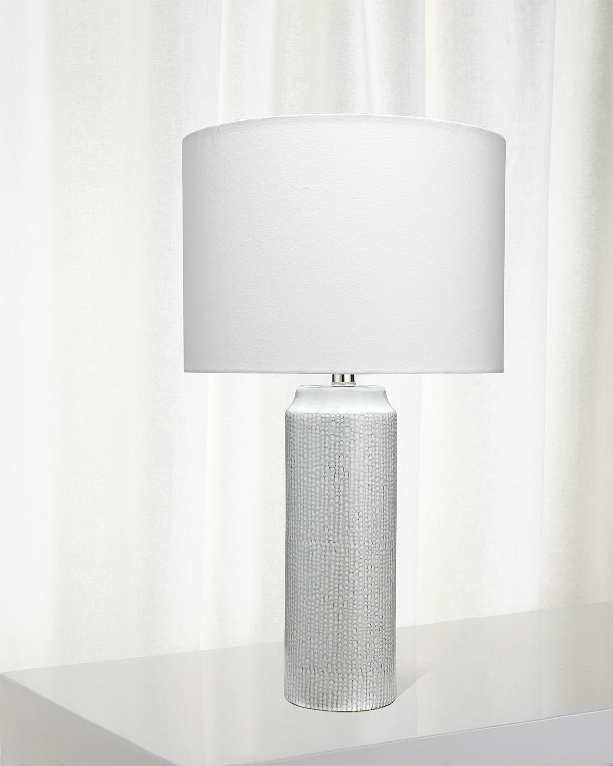 Jamie Young Lighting & lamps BELLA TABLE LAMP IN LIGHT BLUE PATTERNED CERAMIC