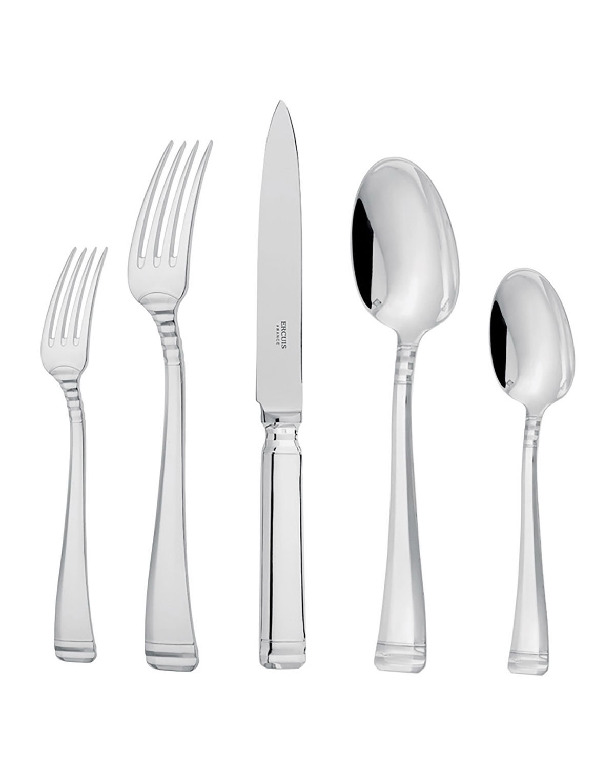 Ercuis Flatwares NIL SILVER PLATED 5-PIECE FLATWARE PLACE SETTING