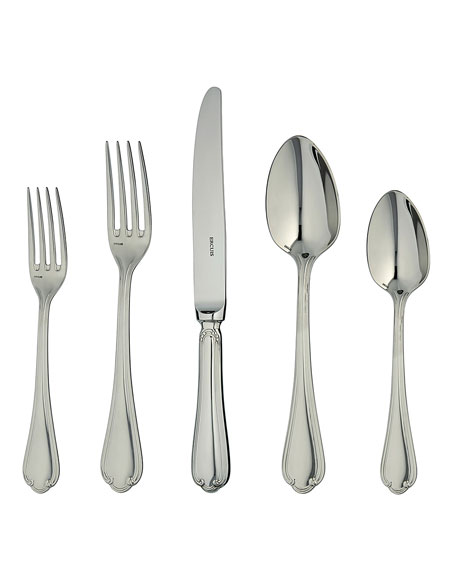 Ercuis Sully Silver Plated 5-Piece Flatware Place Setting