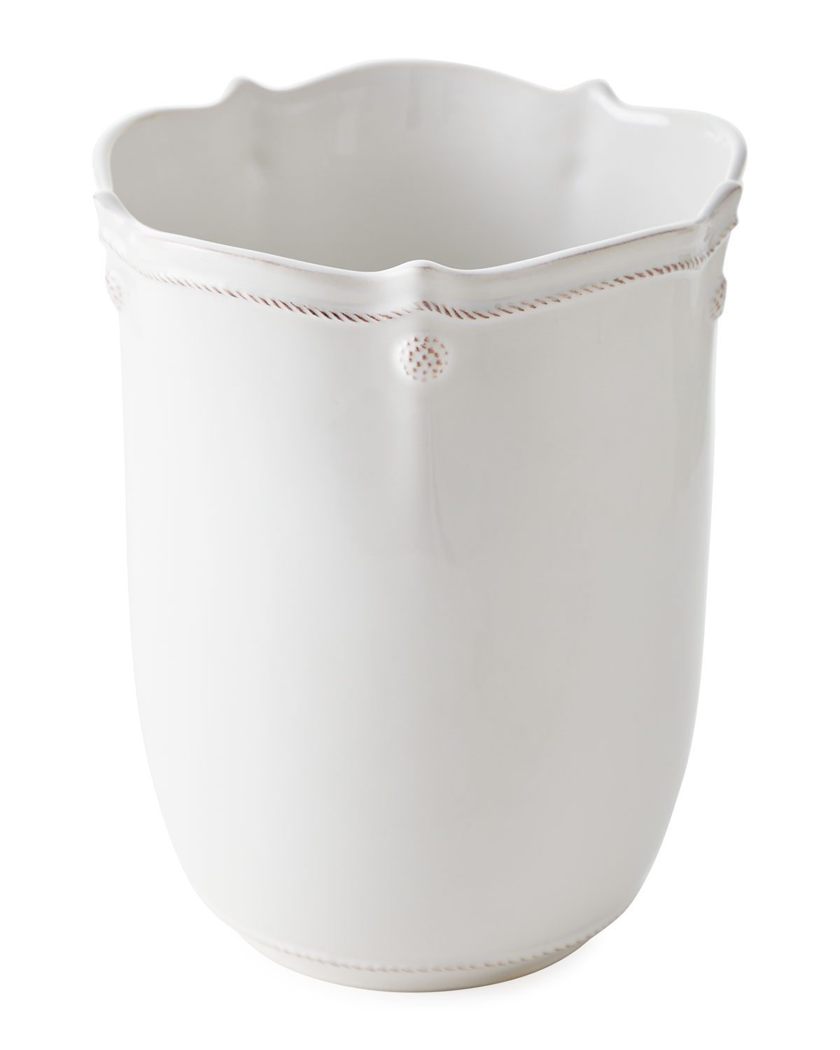 Juliska WASTEBASKET BERRY AND THREAD WHITEWASH