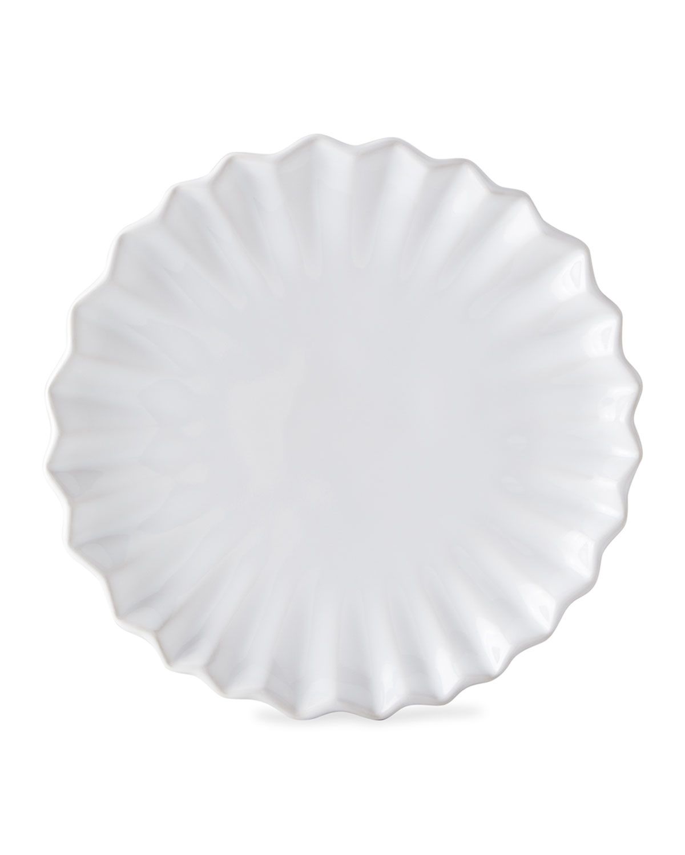 Vietri Incanto Stone White Pleated Salad Plate