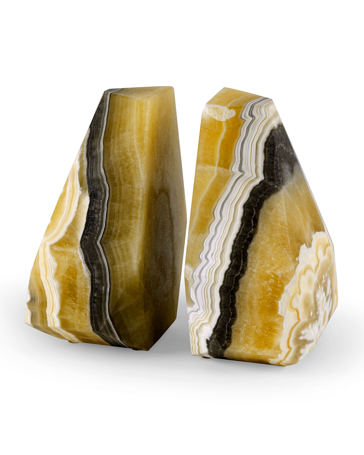 Palecek Books SONORA ONYX BOOKENDS, SET OF 2