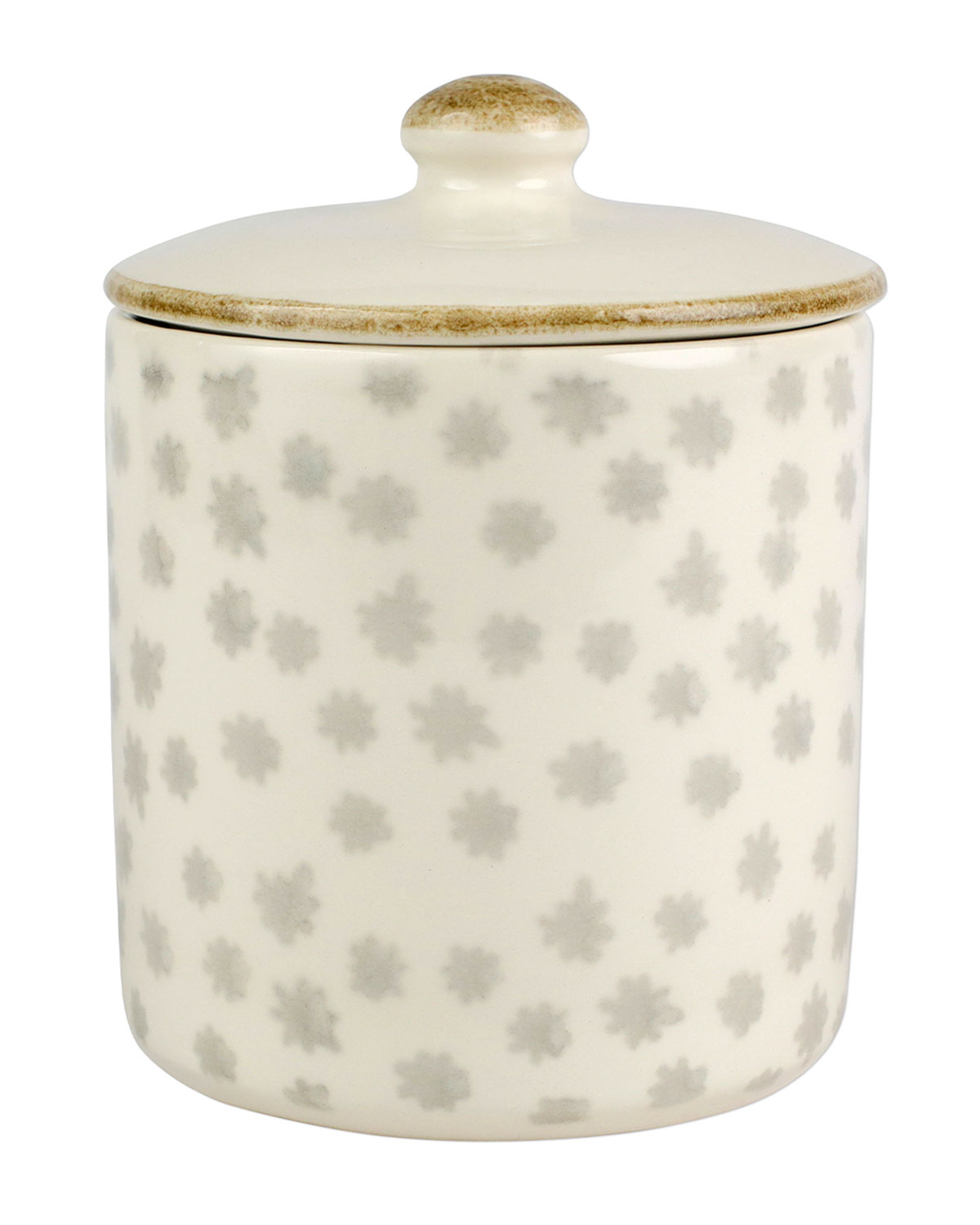 Vietri EARTH FLOWER SMALL CANISTER