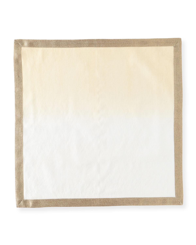 Kim Seybert DIP-DYE NAPKIN, WHITE/BEIGE