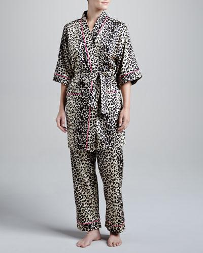Leopard-Print Short Robe