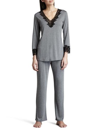 Lhasa Jersey Pajamas, Heather Gray