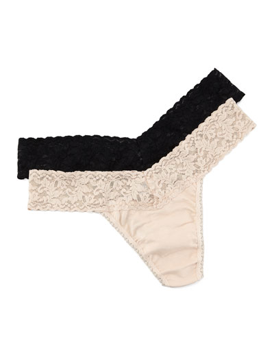 Low Rise Organic Cotton Thong, Basic Colors