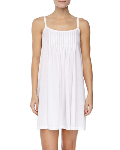 Juliet Pleated Babydoll Gown, White