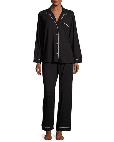 Gisele Long Pajama Set, Sorbet/Black