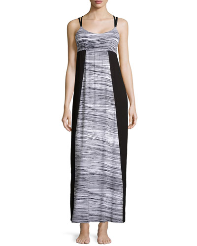Ambracia Printed Lounge Maxi Dress, Black