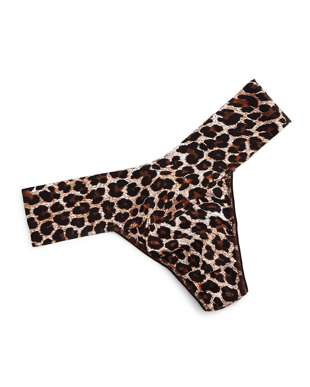 Bare Eve Leopard-Print Thong, Leopard