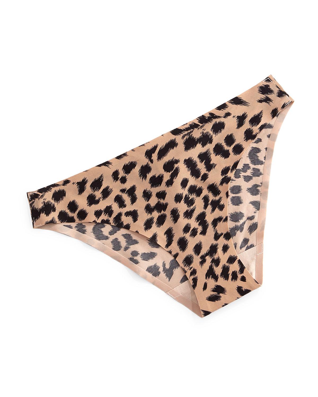 Stella Smooth Animal-Print Bikini Briefs, Leopard