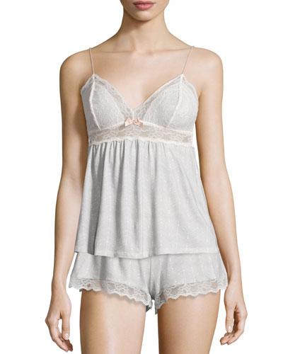 Secret Attic Lace Lounge Camisole, Earl Gray