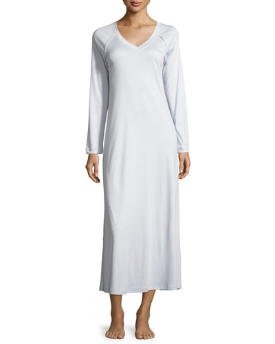 Pure Essence Long-Sleeve Gown, Blue Glow