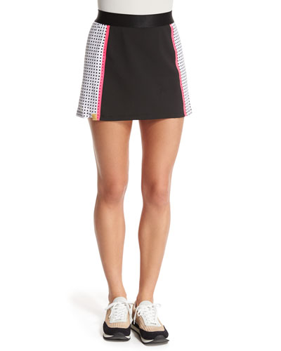 Squad Perforated Jersey Skirt