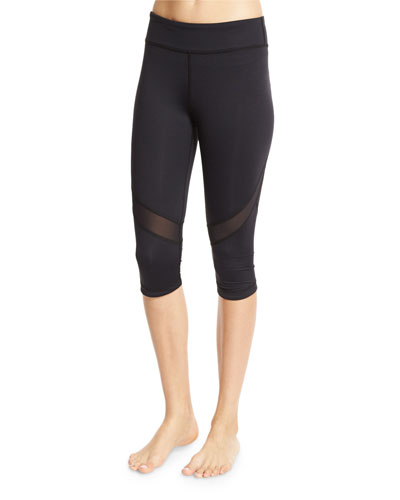 Take Sides Stretch Cropped Performance Leggings