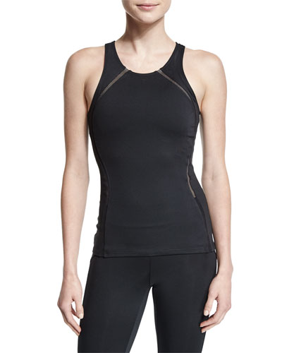 Studio Mesh-Panel Athletic Tank Top