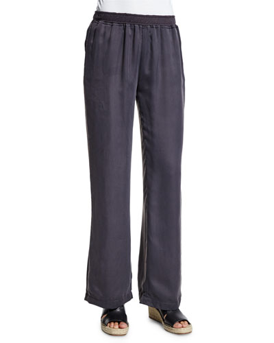 Jules Wide-Leg Lounge Pants, Graphite
