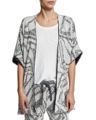Fiona Cotton-Blend Half-Sleeve Cardigan