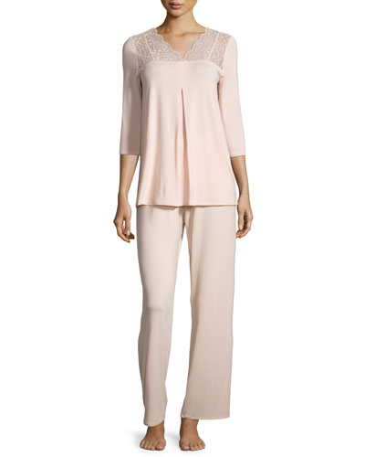 Noelia Pants Pajama Set, Bellini