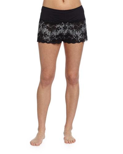 Italia Boxer Lounge Shorts, Black/Sedona