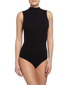 Seamless Mock-Neck Thong Bodysuit
