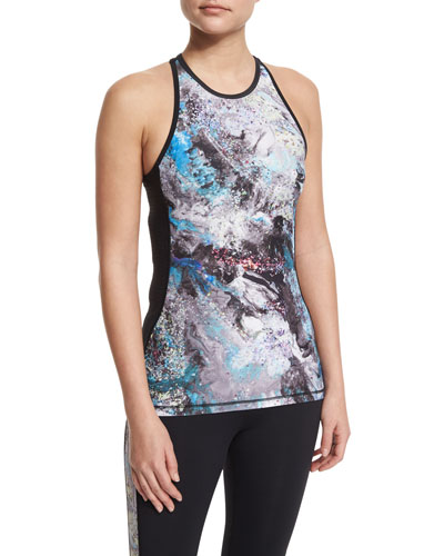 Printed-Front Racerback Sport Tank