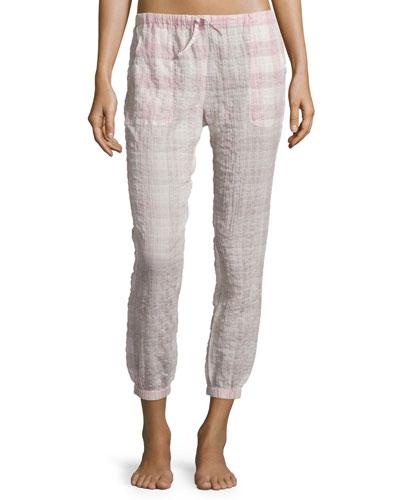 Diana Plaid Gauze Pants