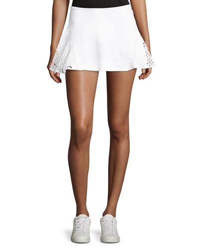 Deuce Mesh-Panel Tennis Skirt
