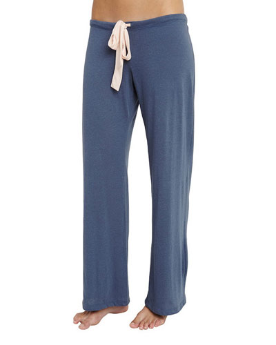 Wide-Leg Lounge Pants, Beach Blue