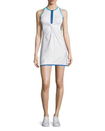 Twist-Front Tennis Dress