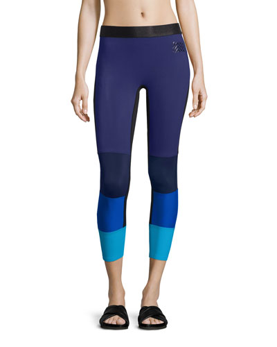 Spectrum Colorblock Sport Leggings, Cassis