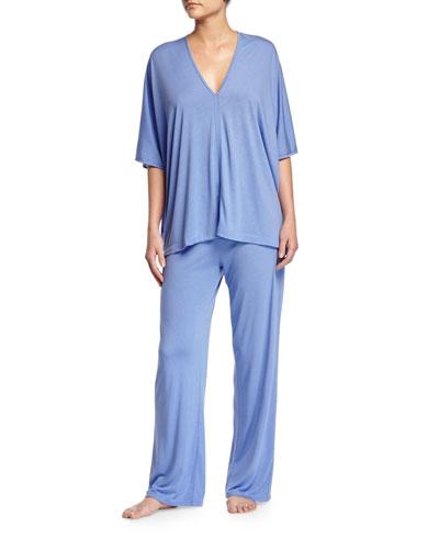 Shangri La Tunic Pajama Set, Iris