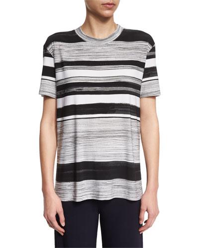 Multi-Stripe Short-Sleeve Boxy Tee