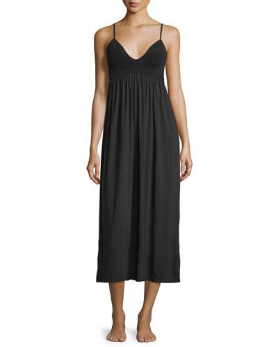 V-Neck Long Gown, Black