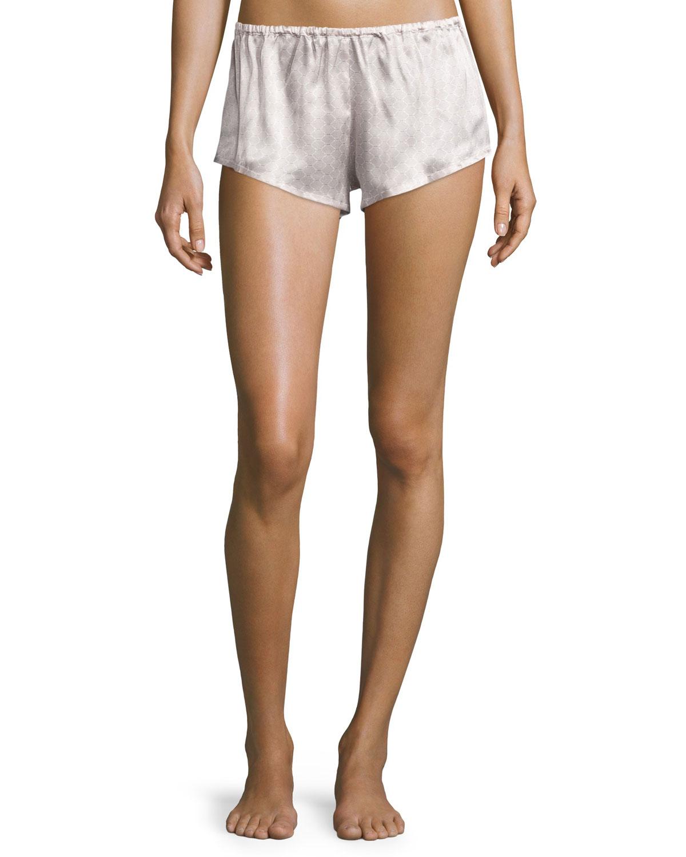 Rose Tile Printed Pajama Shorts, Rose